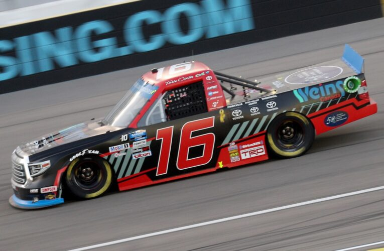 Vegas Trucks: Hill holds off Creed