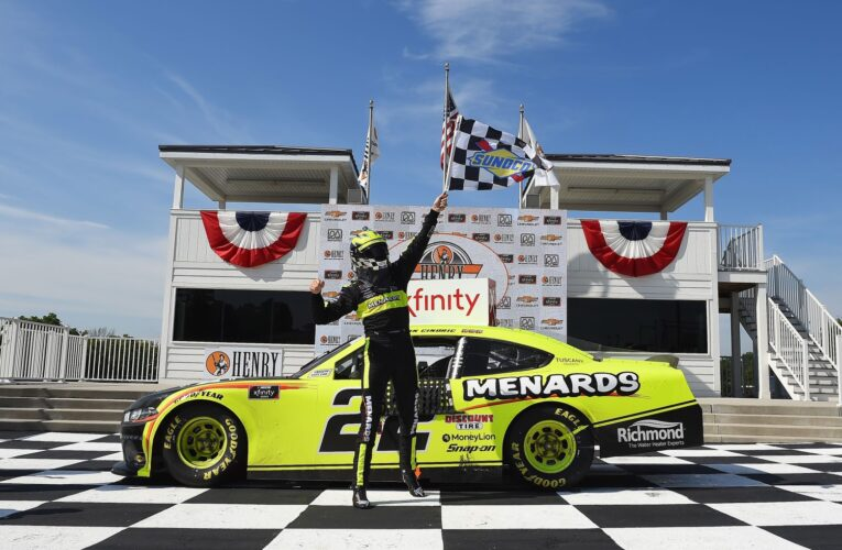 Cindric wins Xfinity road course race