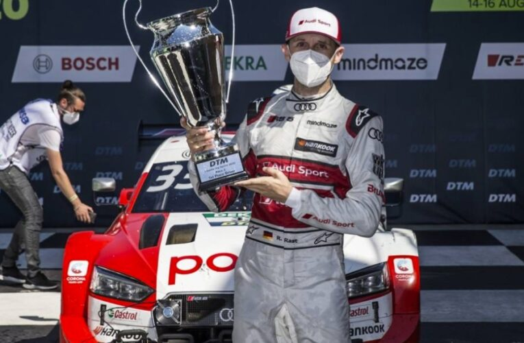 Rast wins DTM race in photo-finish