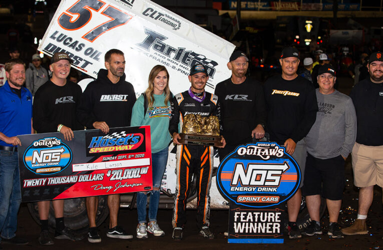 Kyle Larson Claims $20K With Big Huset's Speedway Win