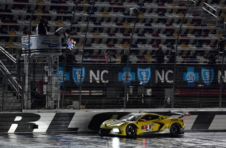 IMSA: Garcia beats Edwards to win wet and wild Roval race