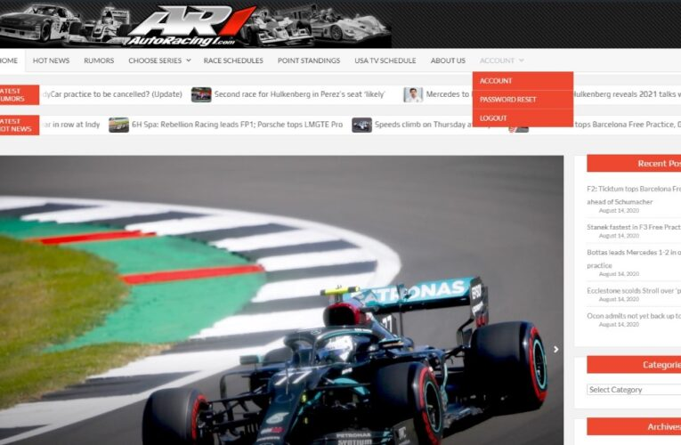 AutoRacing1.com new site is live