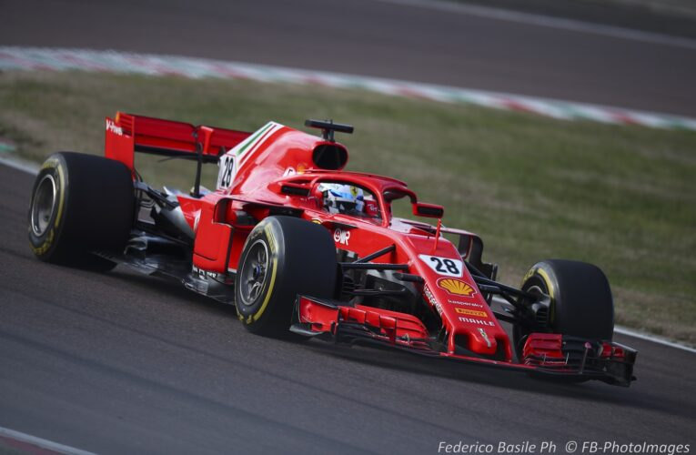 Exclusive Day 1: First images from Ferrari 7-driver test