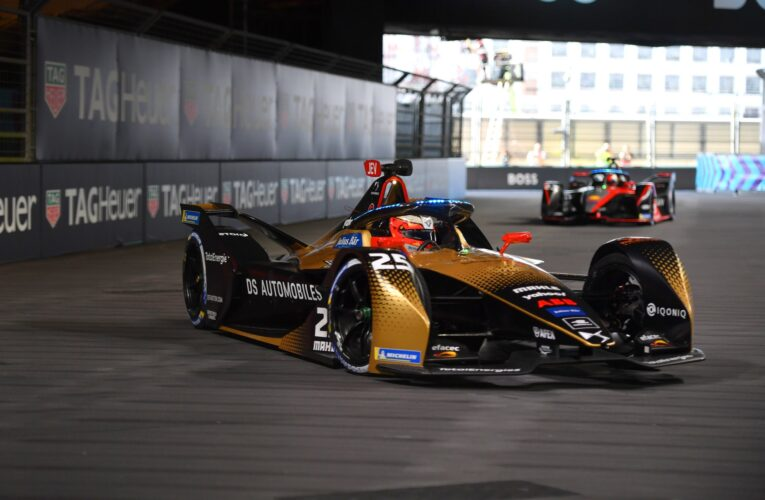 Formula E: Vergne heads practice 1, Guenther practice 2, in London