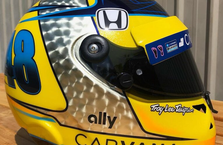 Jimmie Johnson reveals new helmet – Best looking of all IndyCar drivers