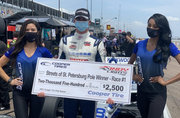 Indy Lights: Kirkwood wins pole for St. Pete Race 1