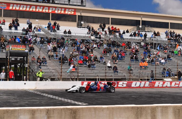 Road To Indy: Rasmussen Edges Gold in Lucas Oil Raceway Oval Thriller