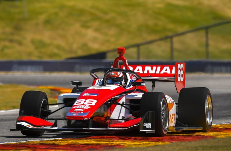 Indy Lights: Frost over Kirkwood in opening practice at Mid-Ohio
