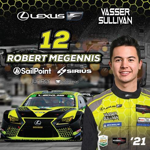 Megennis Joins Vasser Sullivan for IMSA Endurance Races