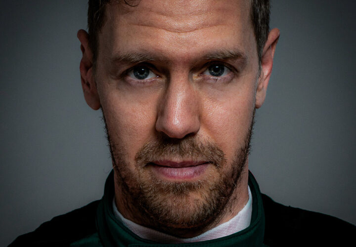 Vettel spends first day at Aston Martin