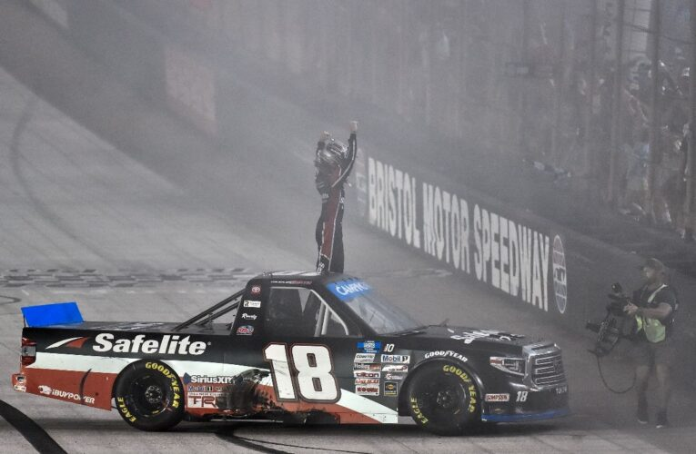Chandler Smith advances in NASCAR Truck Playoff with thrilling victory at Bristol