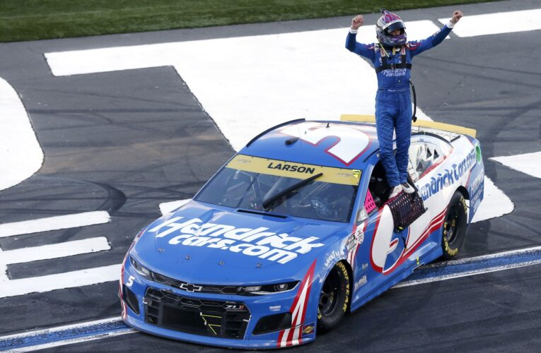 Video: Highlights -Larson wins Cup playoff race at Roval