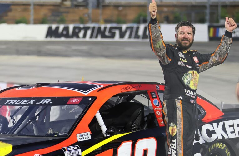 Truex Jr wins rain delayed Cup race at Martinsville