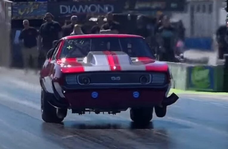 Video: Drag Racing Camaro suffers blow over