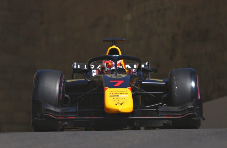 Lawson tops Hitech one-two in Baku with first F2 pole