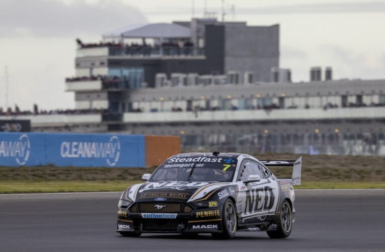 Supercars: Ford's Heimgartner wins first career race in thriller at The Bend
