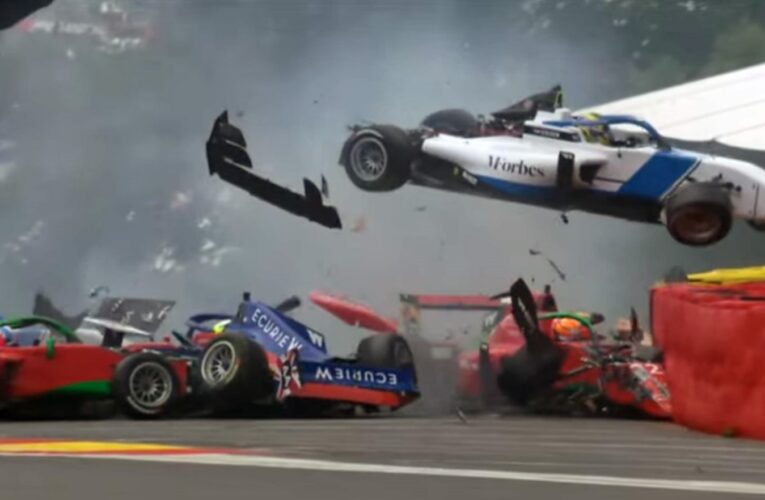 W Series Video: Agren and Visser transferred to hospital after Spa crash