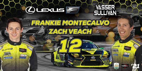 Montecalvo and Veach to Pilot No. 12 Vasser Sullivan Lexus