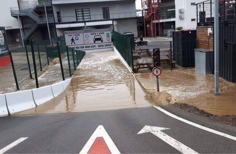 Video: Major flooding at Spa  (Update)
