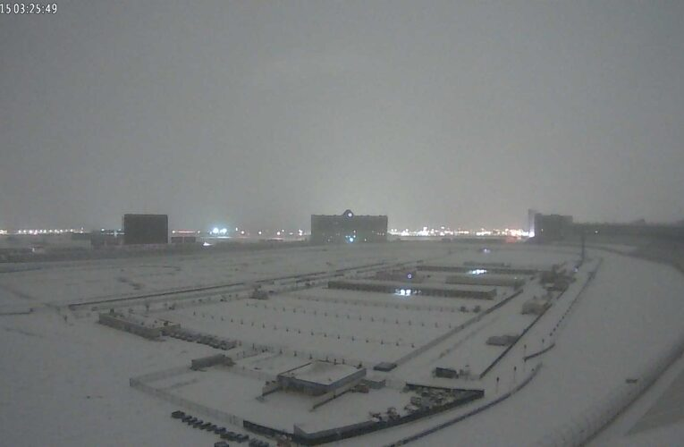 TMS covered in snow