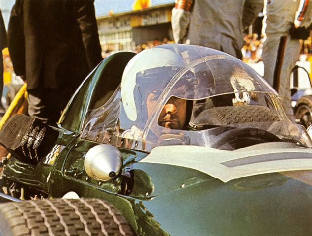 Jack Brabham tested a canopy in 1967