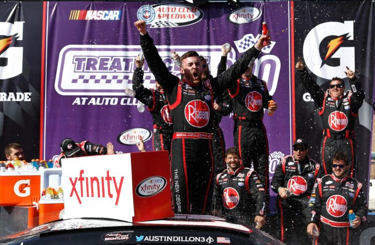 Dillon Saves Fuel, Wins XFINITY Thriller