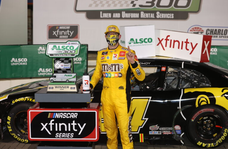 Kyle Busch wins in last lap Xfinity duel at Charlotte