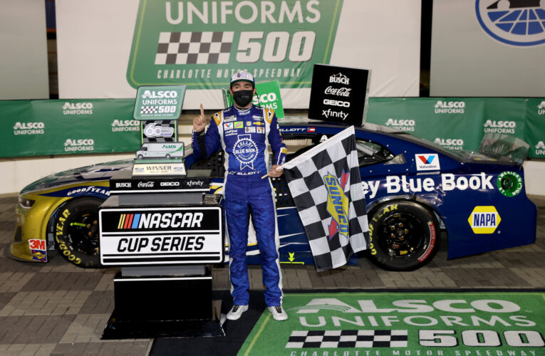 Chase Elliott week of misery ends with Charlotte victory
