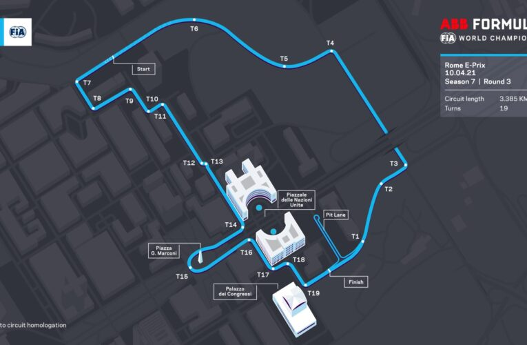 New circuit layout unveiled for Formula E's trip to Rome